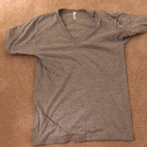 American apparel unisex v neck shirt sz s